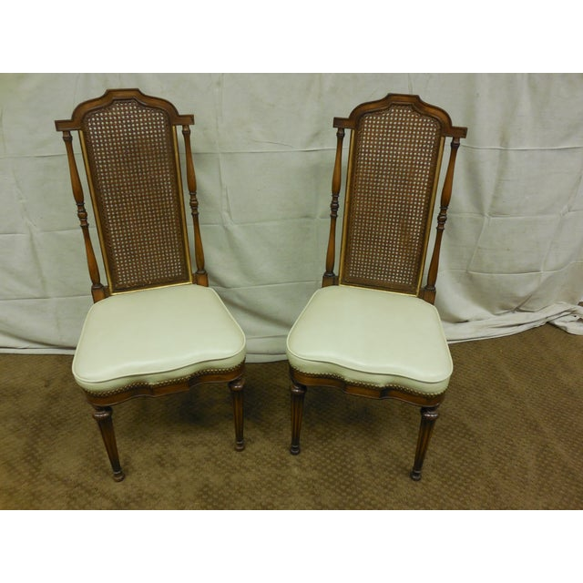 Set Of 6 Dining Chairs: Vintage Regency Style Dining Chairs - Set Of 6