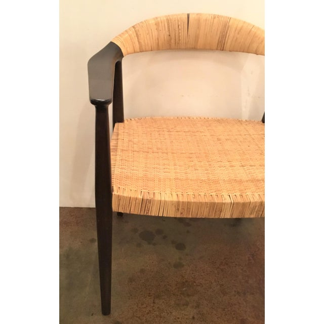 Marvelous Bungalow 5 Mid Century Style Canned Accent Chair Evergreenethics Interior Chair Design Evergreenethicsorg