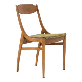 Vintage Mid Century Barney Flagg for Drexel Walnut Dining or Desk Chair For Sale
