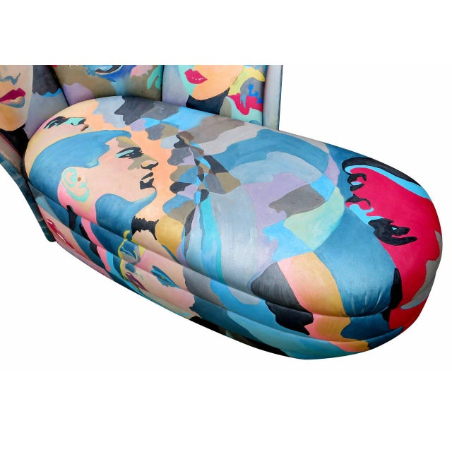 1980s Hand-Painted Chaise by Robert Fisch - Image 4 of 9