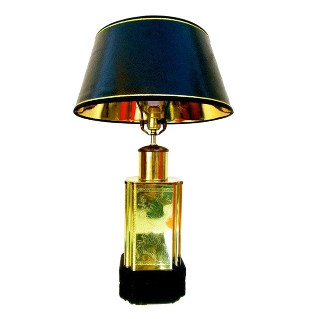 Vintage Brass Chinoiserie Lamp - Image 1 of 6
