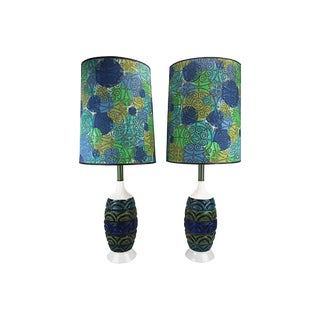 Mid-Century Modern Ceramic Lamps - A Pair For Sale