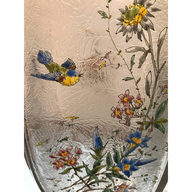 Late 19th Century 19th Century French Hand Enameled Mont Joye Vases- A Pair For Sale - Image 5 of 10