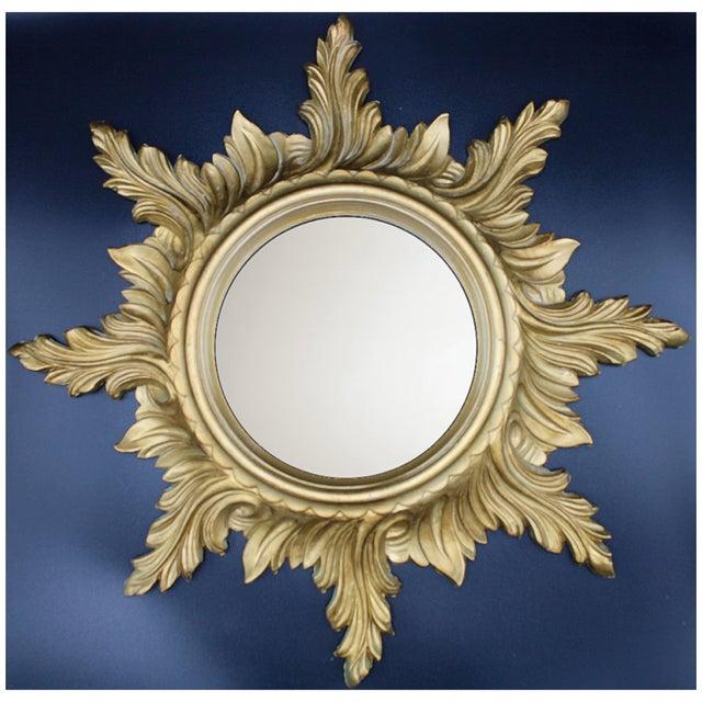 1960s Italian Gold Feather Rays Sunburst Mirror For Sale In Tulsa - Image 6 of 10