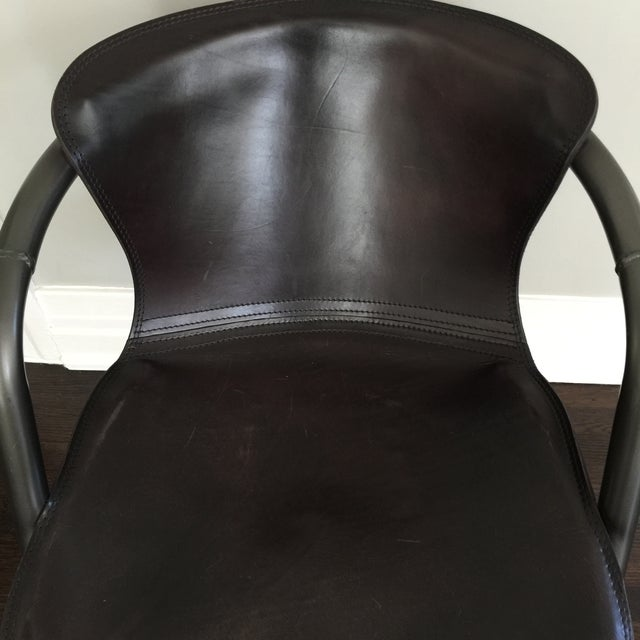 Duke Leather Accent Chairs - Set of 6 - Image 3 of 7