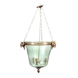French Louis XVI Style Lantern With a Dome Shaped Glass Shade For Sale