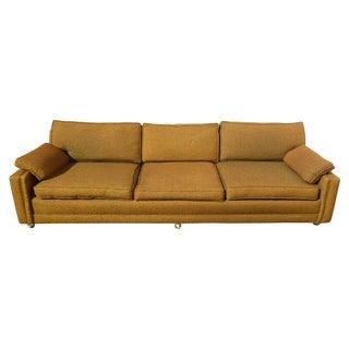 Mid Century Modern Gold Sofa on Castors