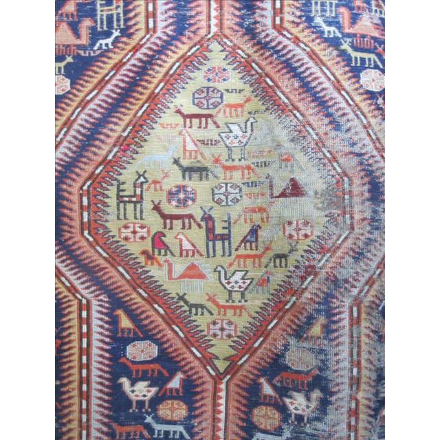 Antique Animal Motif Tabriz Tribal Rug - 4' X 6'11 - Image 3 of 11