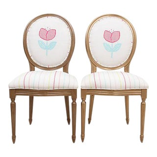 Louis XIV Ava Chairs - a Pair