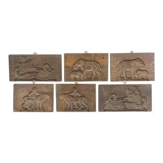 Vintage Wooden Bake Boards/Molds - Set of 6 For Sale