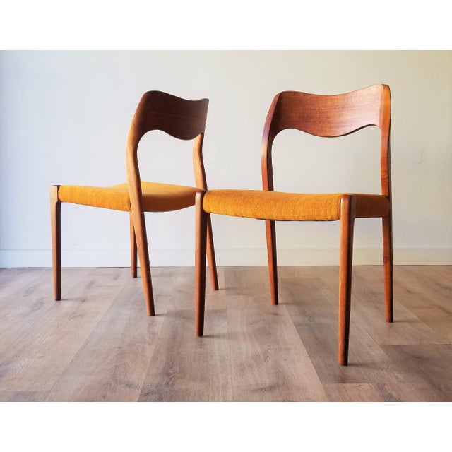 Mid-Century Modern Newly Upholstered 1960s Niels Moller Model 71 Dining Chairs - Set of 6 For Sale - Image 3 of 13