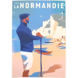 2016 Danish Modern Travel Poster, Visitez La Normandie For Sale