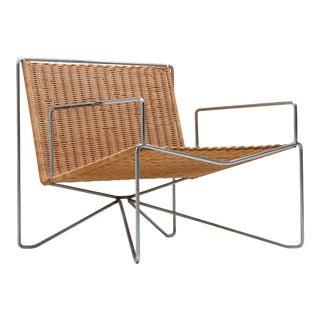 1960s Rattan & Steel Armchairs by Gelderland - a Pair