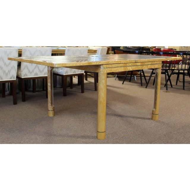 Enrique Garcel Mid-Century Modern Enrique Garcel Lacquer Leather Expandable Dinette Game Table For Sale - Image 4 of 12