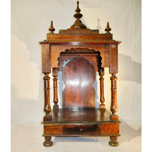 Late 19th Century Vintage Indian Rosewood House Shrine Model For Sale - Image 12 of 12