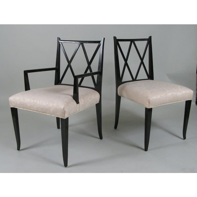 Tommi Parzinger 1950s Set of Six 'Double X' Dining Chairs by Tommi Parzinger for Parzinger Originals For Sale - Image 4 of 11