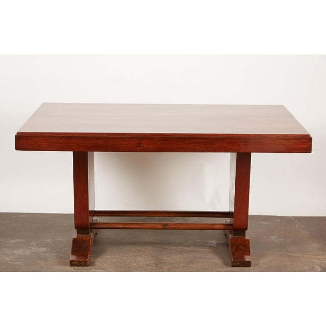20th Century French Colonial Art Deco Rosewood Desk - Image 3 of 9