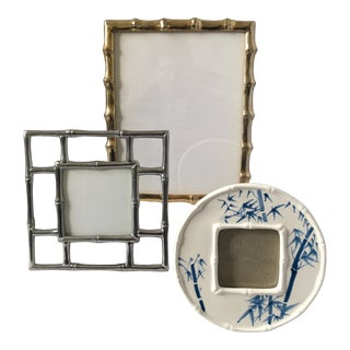 Contemporary Asian/Chinoiserie Style Picture Frames - Set of 3 For Sale