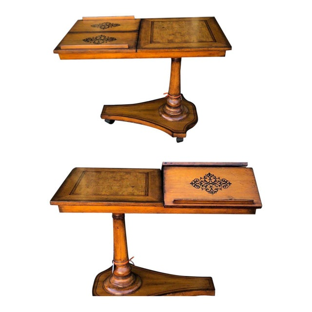 Unusual Designer Italian Marquetry Inlaid Game or Card Table For Sale - Image 4 of 4