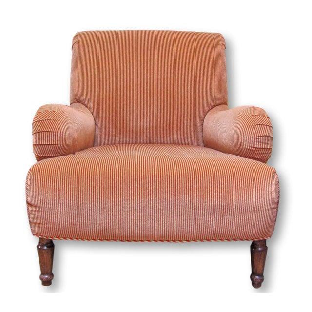 A. Rudin Velvet Stripe Lounge Chair - Image 2 of 9