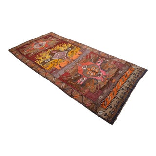 Hand Knotted Kurdish Tribal Rug - 6′4 ″ X 13′5″ For Sale