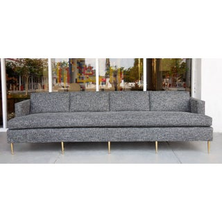 Mid-Century Dunbar Style Sofa With Brass Legs Preview