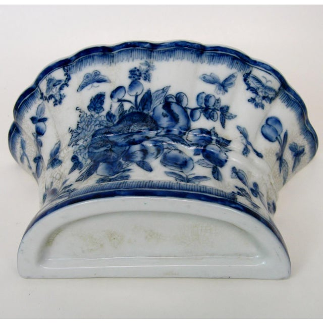 Blue & White Porcelain Wall Pocket Planter - Image 6 of 7