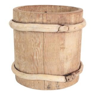 Vintage Turkish Barrel Cachepot For Sale