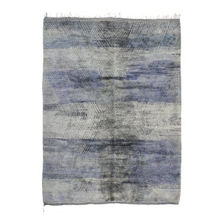 Berber Moroccan Rug With Modern Style - 10'02 X 13'04 For Sale