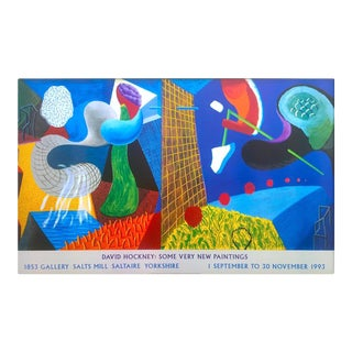 1993 David Hockney Original Oversize Exhibition Art Poster For Sale