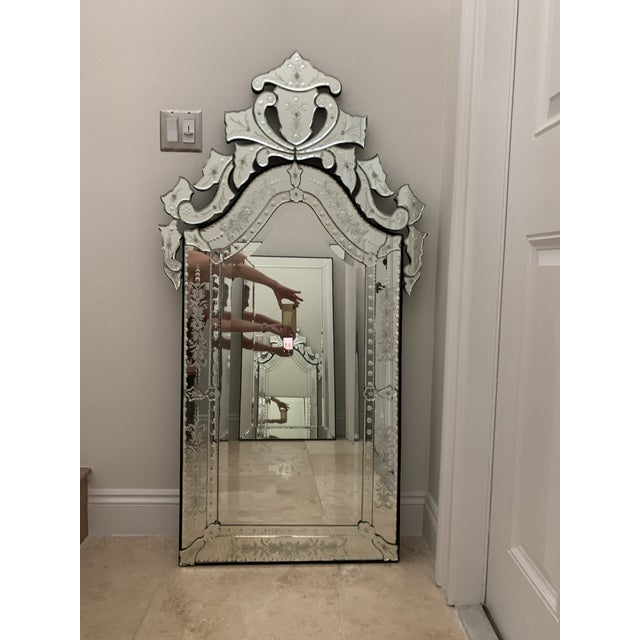 Vintage Venetian Tall Mirror For Sale - Image 10 of 12