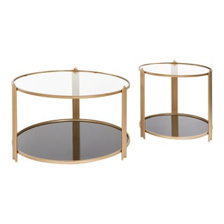 Sydney Round Coffee Tables- a Pair For Sale
