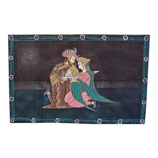 Vintage Indian Tapestry of Shah Jahan and Mumtaz Mahal For Sale