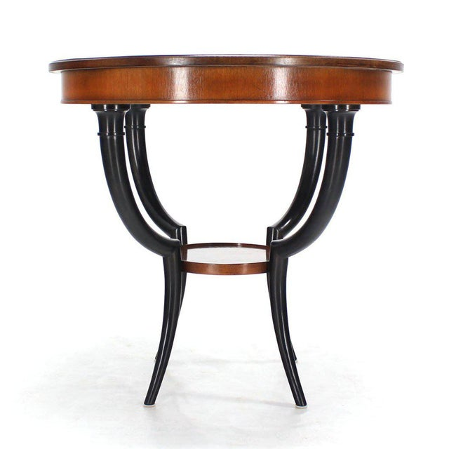 Tan Baker Two-Tone Round Gueridon or Center Drum Table For Sale - Image 8 of 10