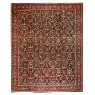 Antique Oversize 19th Century Persian Tabriz Carpet For Sale
