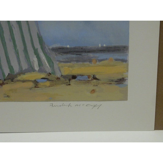 """Frederick McDuff """"Tents on the Beach"""" Limited Edition Print For Sale - Image 5 of 5"""
