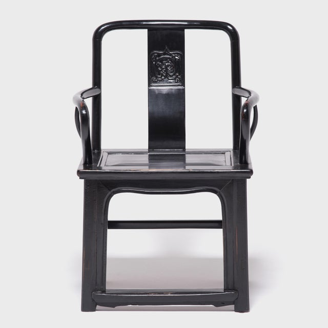 With its strong lines and upright stature, this imposing piece of furniture was the chair of choice for a 19th-century...