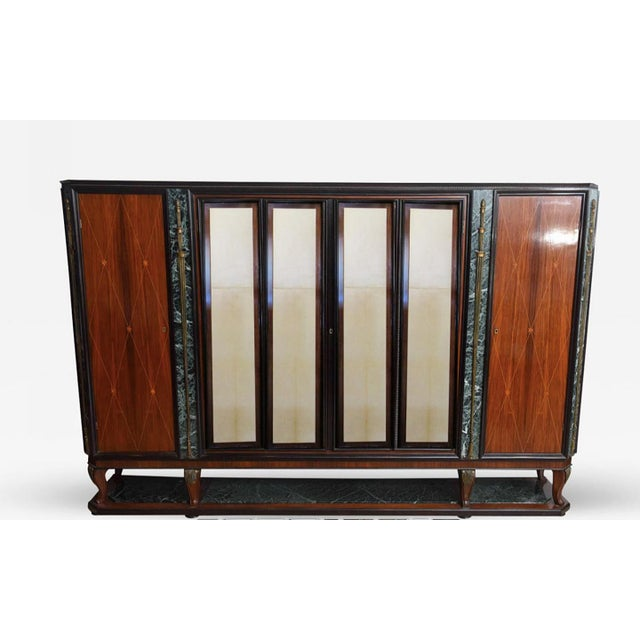 Italian Modern Palisander and Marble Bookcase, Attributed to Paolo Buffa For Sale - Image 9 of 9
