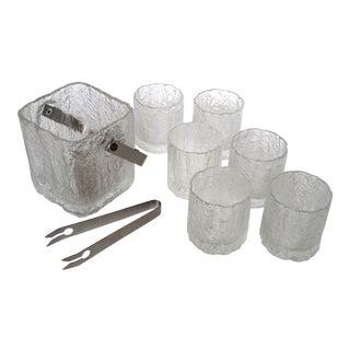 Vintage Glass Bar Set - Set of 8