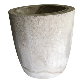 Round Wood Vase Planter For Sale