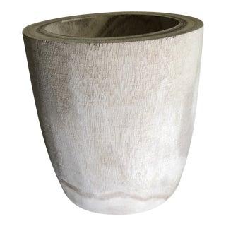 Round Wood Vase Planter