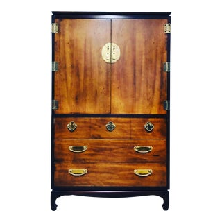 1970s Chinoiserie Lane Tall Boy For Sale