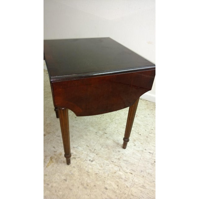 Duncan Phyfe-Style Drop Leaf Side Table - Image 4 of 7