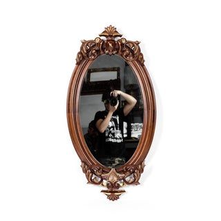 Victorian Mahogany Wood Framed Hanging Mirror Preview