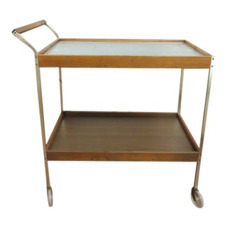 Vintage Mid Century Modern 2 Tier Salton Bar Cart With Hot Tray Top For Sale