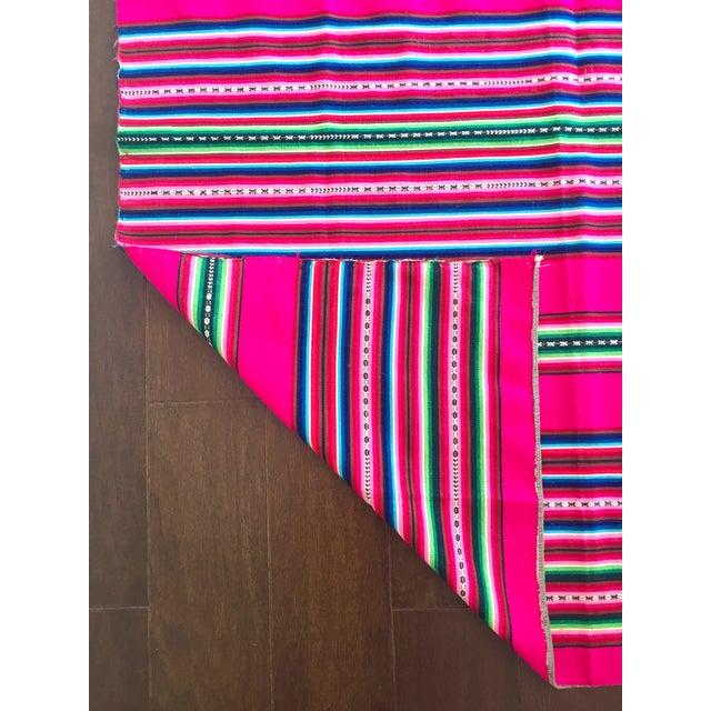 Vintage Bolivian Handwoven Blanket - Image 4 of 7