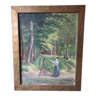 Late 19th Century Plein Air Landscape Painting For Sale