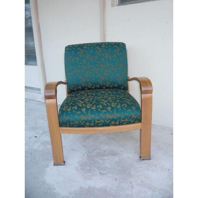 J. Robert Scott Pair of J. Robert Scott Sally Sirkin Lewis Deco Lounge Chairs For Sale - Image 4 of 13