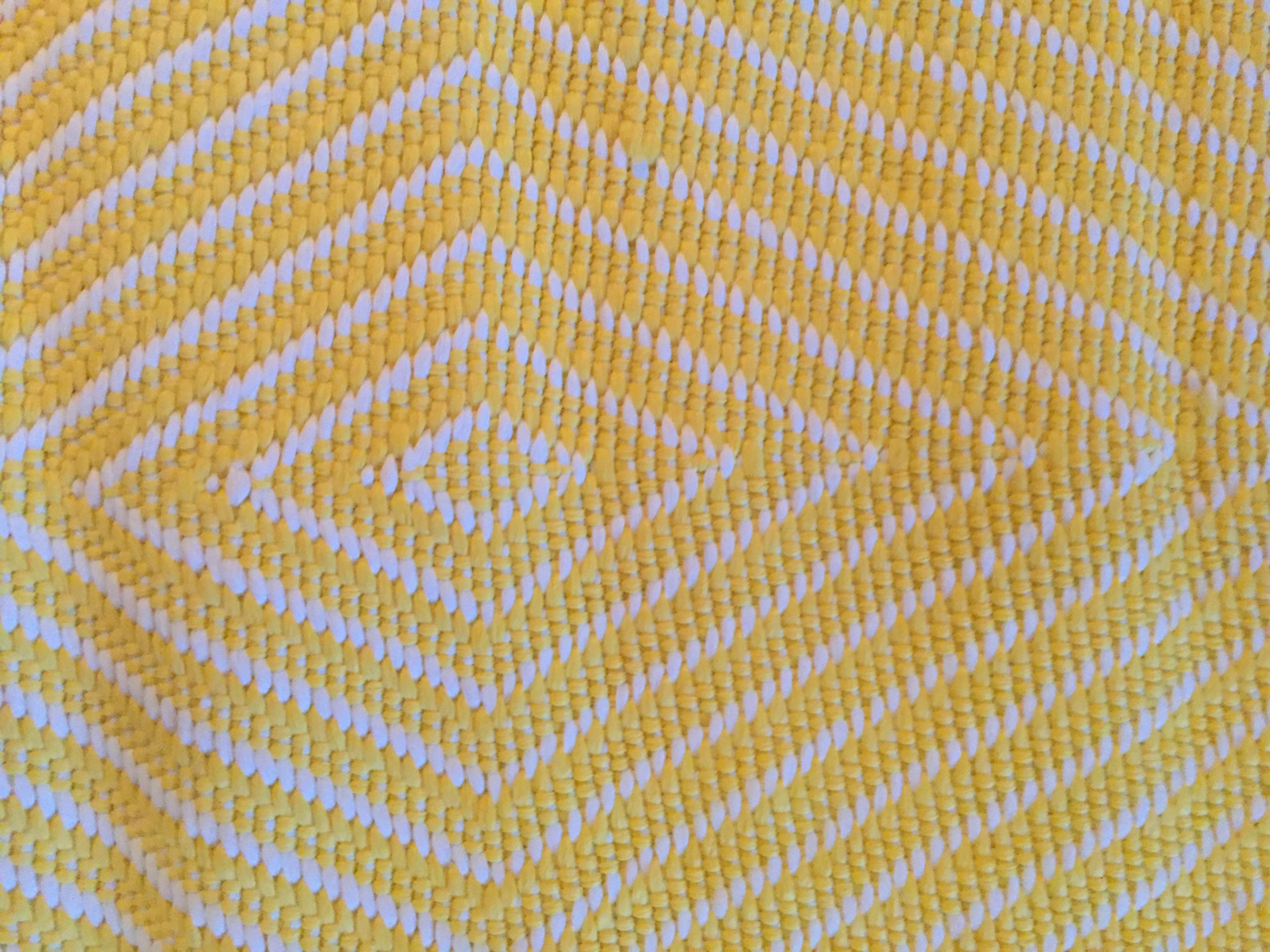 Indoor Outdoor Rug Bright Yellow White 3 X 5 Chairish