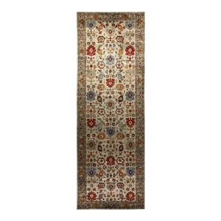 One-Of-A-Kind Oriental Serapi Hand-Knotted Runner Rug, Moss, 6' 1 X 18' 4 For Sale